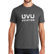 Black Heather UVU Aviation Crew Tee