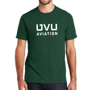 Dark Green UVU Aviation Crew Tee