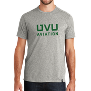 Light Graphite UVU Aviation Crew Tee