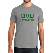 Heather Grey UVU Aviation Crew Tee