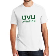 White UVU Aviation Crew Tee