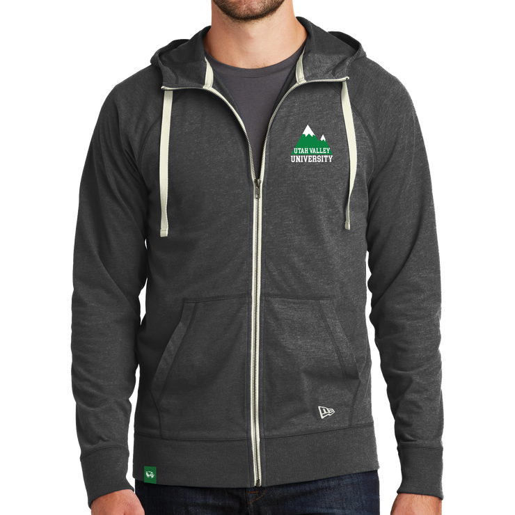 New Era Sueded Cotton Blend Full-Zip Hoodie - Mountain