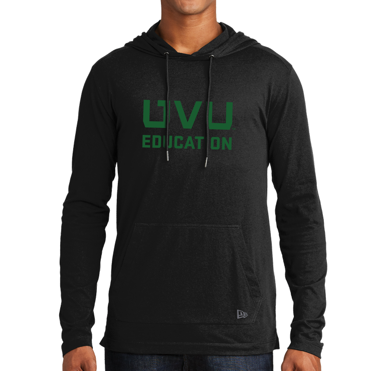 New Era Tri-Blend Performance Pullover Hoodie Tee- UVU Education