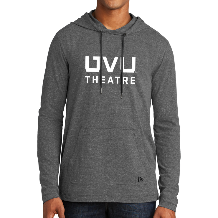 New Era Tri-Blend Performance Pullover Hoodie Tee- UVU Theatre