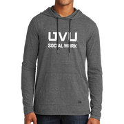 New Era Tri-Blend Performance Pullover Hoodie Tee- UVU Social Work