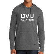 New Era Tri-Blend Performance Pullover Hoodie Tee- UVU Aviation