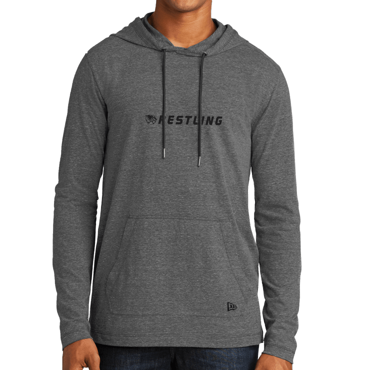 New Era Tri-Blend Performance Pullover Hoodie Tee- Wrestling Head