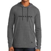 New Era Tri-Blend Performance Pullover Hoodie Tee- Track and Field Head