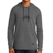 New Era Tri-Blend Performance Pullover Hoodie Tee- Cross Country Head