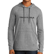 New Era Tri-Blend Performance Pullover Hoodie Tee- Basketball Head