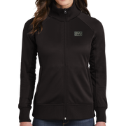 The North Face Ladies Tech Full-Zip Fleece Jacket - Pleather Mono Patch
