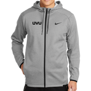Nike Therma-FIT Textured Fleece Full-Zip Hoodie- Mono Silicone