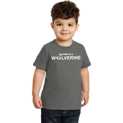 Port & Company Toddler Fan Favorite Tee- My Mom is a Wolverine