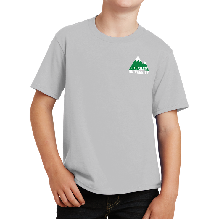 Port & Company Youth Fan Favorite Tee- UVU Mountain