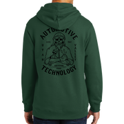 Port & Company Fan Favorite Fleece Pullover Hooded Sweatshirt- Automotive Skull and UVU Mono