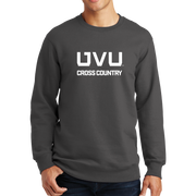 Port & Company Fan Favorite Fleece Crewneck Sweatshirt - UVU Cross Country