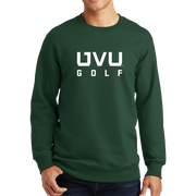 Port & Company Fan Favorite Fleece Crewneck Sweatshirt - UVU Golf