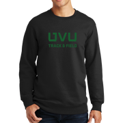 Port & Company Fan Favorite Fleece Crewneck Sweatshirt - UVU Track & Field