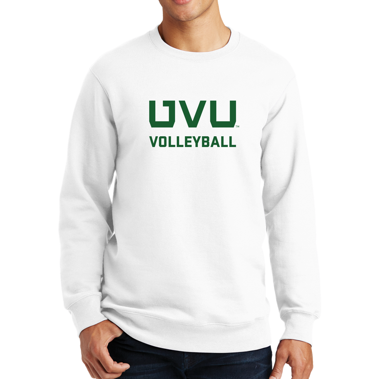 Port & Company Fan Favorite Fleece Crewneck Sweatshirt - UVU Volleyball