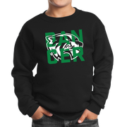Port & Company Youth Core Fleece Crewneck Sweatshirt- Wolverine Dancer