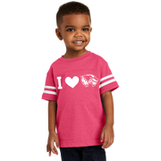 Rabbit Skins Toddler Football Fine Jersey Tee - I love Wolverines