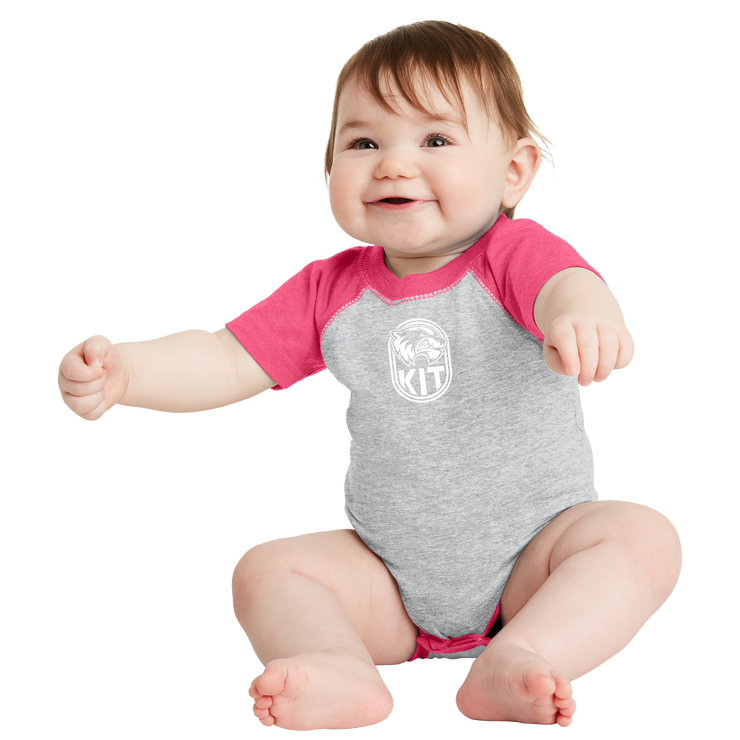 Rabbit Skins Infant Raglan Fine Jersey Bodysuit - Kit Crest