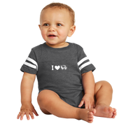 Rabbit Skins Infant Football Fine Jersey Bodysuit- I Love Wolverines