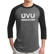 Sport-Tek Colorblock Raglan Jersey- UVU Education