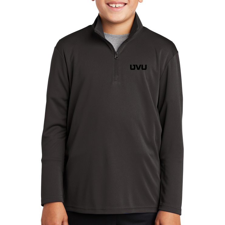Sport-Tek Youth PosiCharge Competitor 1/4 Zip Pullover - UVU Mono