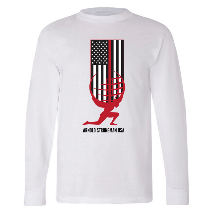 Thin Red Line Long Sleeve T-Shirt - White