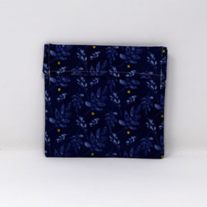 Blue Leaf Snack Bag