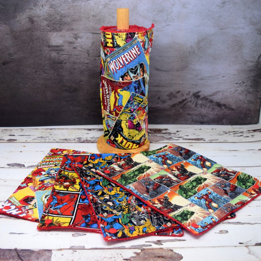 Marvel Mix on Red Unpaper Towel Roll