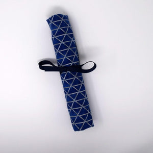 Blue Bamboo Utensil Roll-Up