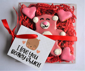 I Love You Beary Much Gourmet Dog Treat Box