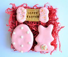 Load image into Gallery viewer, Hoppy Easter Polka Dot Gourmet Dog Treat Box
