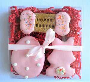 Hoppy Easter Polka Dot Gourmet Dog Treat Box