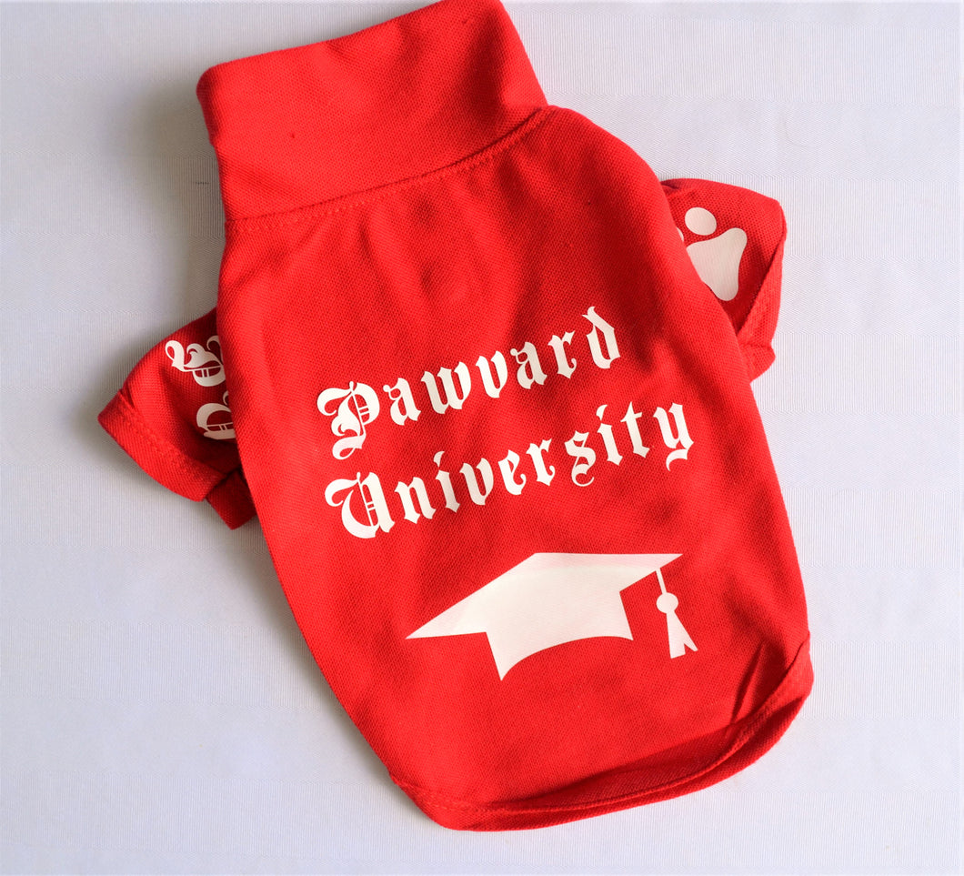 Pawvard University Doggy Polo Shirt