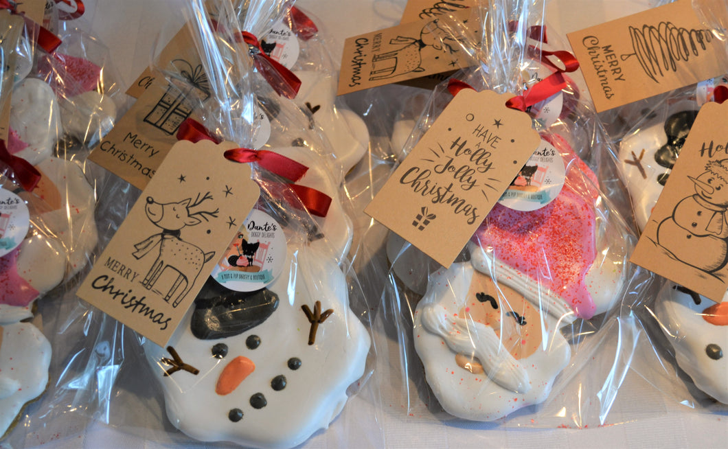 On Dozen Gourmet Christmas Cookie Favor Bags