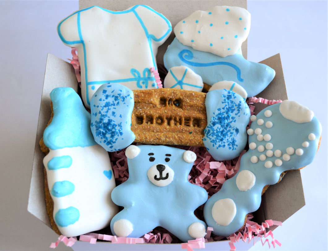 Dante's Big Brother Baby Shower Cookie Box