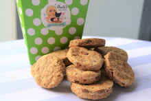 Load image into Gallery viewer, Dante's Carob-Chip Cookies /Healthy Dog Treats /Organic Dog Treats /Dog Birthday /Dog Bakery /Carob Dog Treats /Dog Cookies /Dog Biscuits