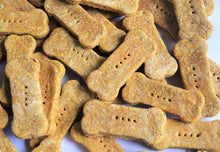 Load image into Gallery viewer, BULK  Discounted Organic Dog Bone Treats (Peanut Butter & Pumpkin Flavor)