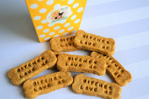 Dante's Bitches Love Me Bone Biscuits /Healthy Dog Treats /Humorous Dog Gift /Organic Dog Treats /Dog Bone /Dog Birthday /Gourmet Dog Treats
