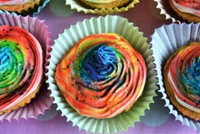 Load image into Gallery viewer, Dante's Rainbow Pupcakes /Dog Birthday /Cupcakes for Dogs /Gift for Dog /Healthy Dog Treats /Organic Dog Treats /Gourmet Dog Treats