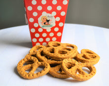 "Load image into Gallery viewer, Dante's ""Twist & Shout"" Pretzels /Organic Dog Treat Pretzels /Healthy Dog Treats /Dog Cookies /Gourmet Dog Treats/Pet Treats /Dog Birthday"