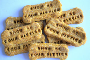 Dante's Show Me Your Pitties Bone Biscuits /Gourmet Dog Treats /Dog Bakery /Gift for Dog /Humorous Gift /Pet Treats /Organic Dog Treats