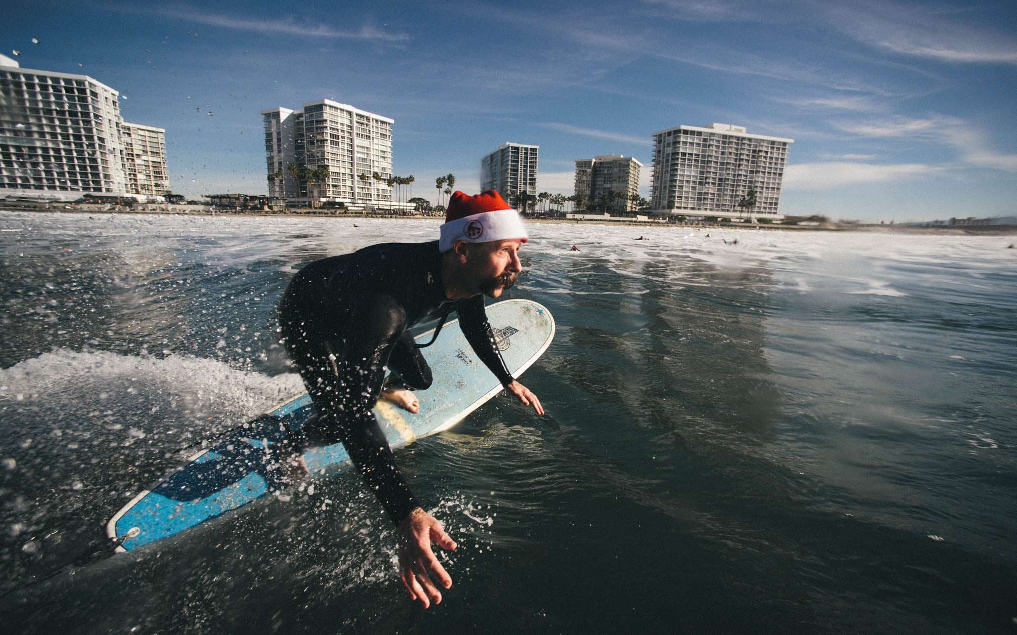 Santa Surf Off at Shipwrecks in Coronado California