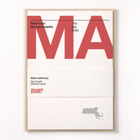 Massachusetts Stationery Set