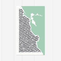 Central California Surf Print