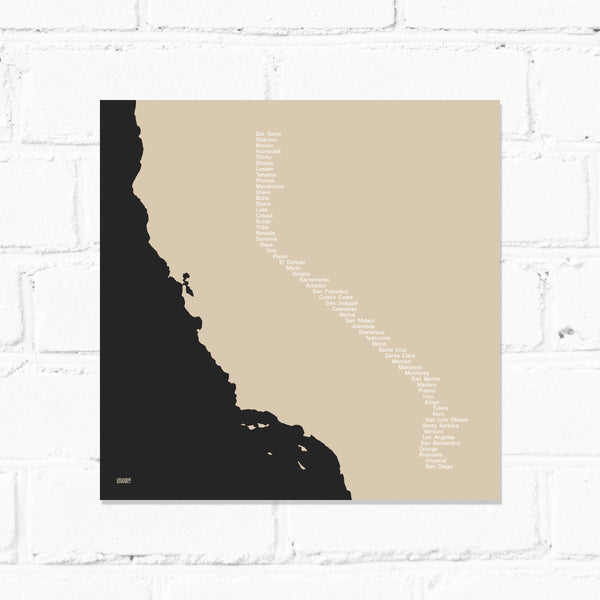 California Counties Print