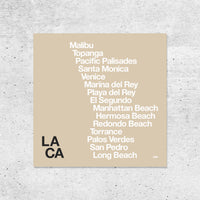 Los Angeles Beach Towns Print